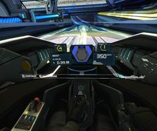 VR cockpit design, model and textures for WipeOut VR