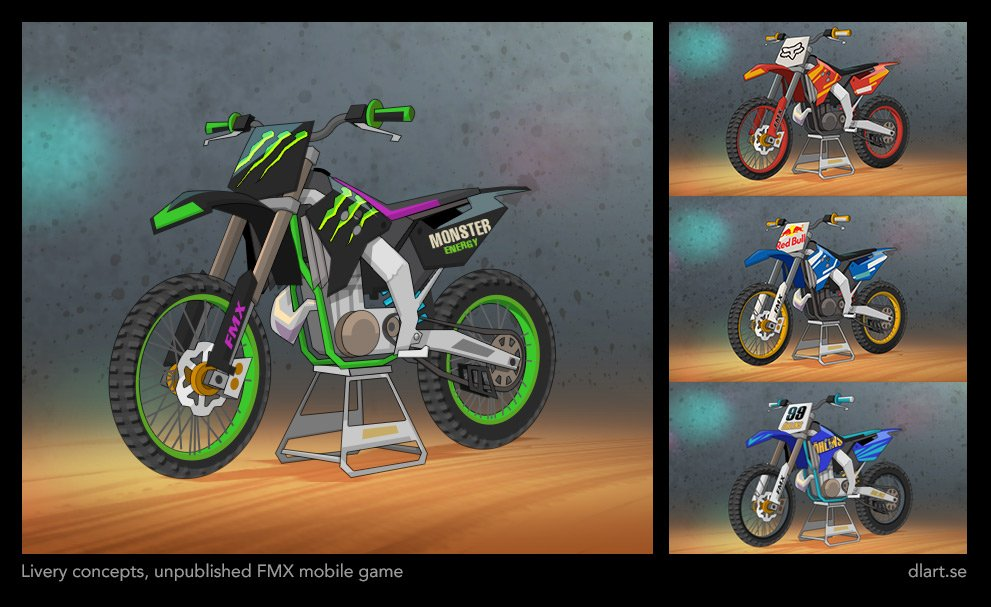Livery concepts for unpublished fmx game