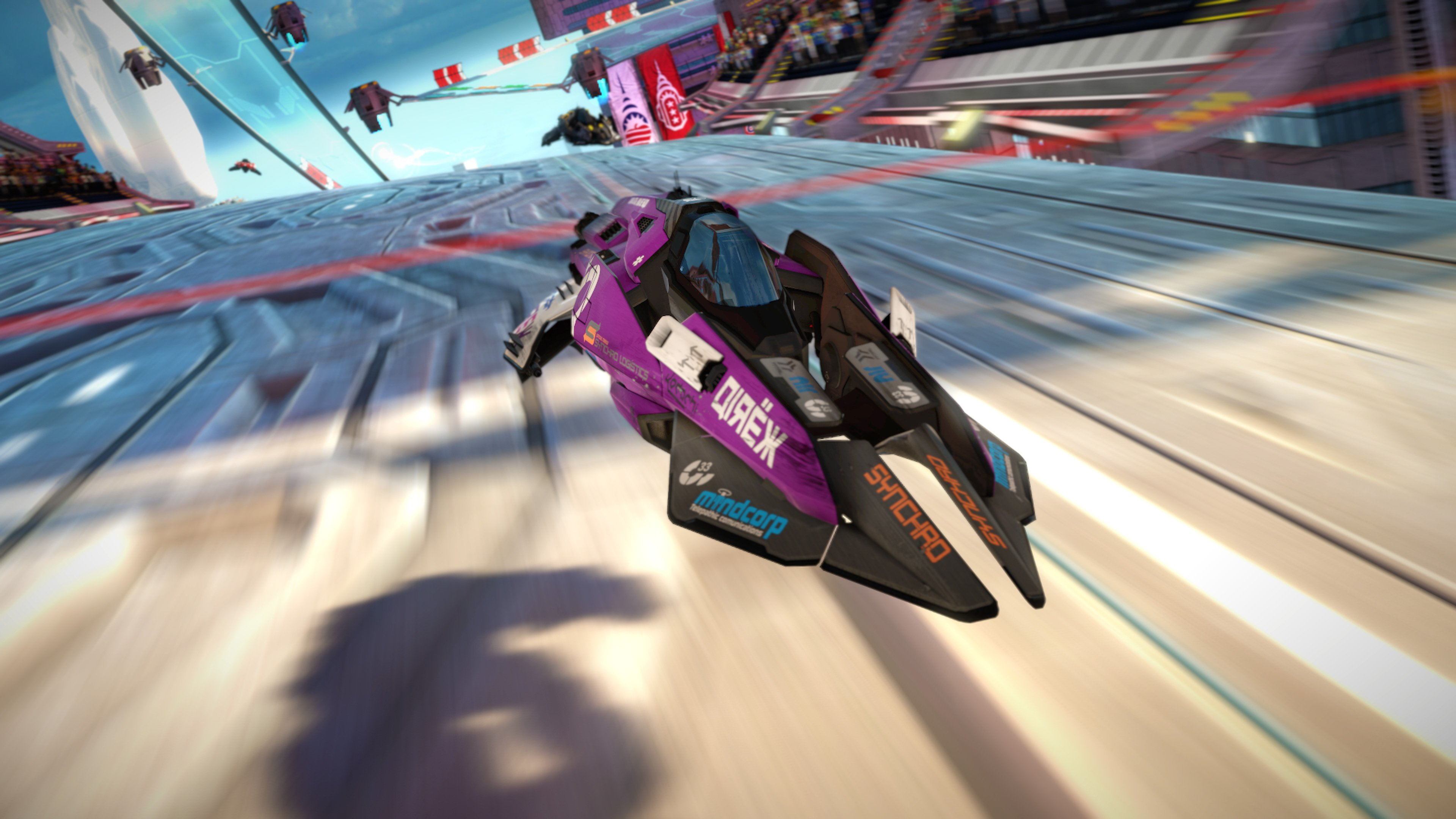Ship design, model and textures for WipeOut VR